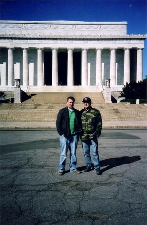 Jim & Michael at the Lincoln Memorial