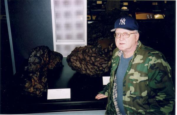 Jim Colyer with meteorites